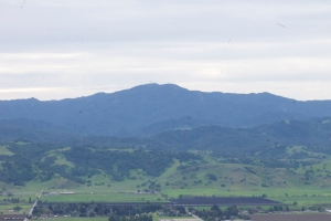 The view of the Santa Cruz Mountains from the Diablo Foothills, across the valley :)