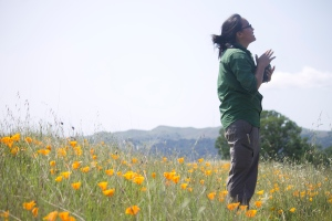 Kristal in the poppies